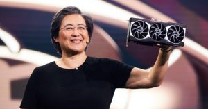 AMD President Holding Radeon 6000